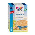 Hipp Bio Κρέμα Δημητριακών Με Γάλα & Μπισκότο 6m+ 450g