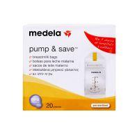 Medela Pump & Save Σακουλάκια Φύλαξης Μητρικού Γάλακτος, 20τμχ