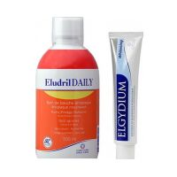 Eludril Daily Στοματικό Διάλυμα Καθημερινής Χρήσης 500ml & Elgydium Whitening Λευκαντική Οδοντόπαστα 50ml