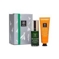 Apivita Set Bee Radiant Ορός Προσώπου Αντιγήρανσης & Λάμψης 30ml & Δώρο Μάσκα Προσώπου Λάμψης Με Πορτοκάλι 50ml