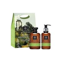 Apivita Set Tonic Mountain Tea Αφρόλουτρο & Γαλάκτωμα Σώματος