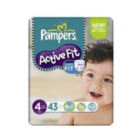 Pampers Active Fit No 4 (7-18Kg) 43τμχ