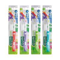Sunstar Gum Kids Παιδική Οδοντόβουρτσα 3-6 Ετών Μαλακή Monster Λευκό-Ροζ