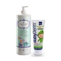 Intermed Babyderm Hydrating & Protective Cream 125gr & Pharmasept Tol Velvet Baby Mild Bath 1lt