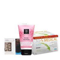 Apivita Rose Pepper Κρέμα Σύσφιγξης & Αναδιαμόρφωσης & Omega Pharma XL-S Medical 180tabs & Korres Σαπούνι