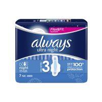 Always Ultra Night No3 Σερβιέτες 7τμχ