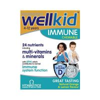 Vitabiotics Wellkid Immune Παιδικό Συμπλήρωμα Διατροφής Για Το Ανοσοποιητικό Σύστημα 30 Μασώμενες Ταμπλέτες
