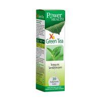 Power Health Xs Green Tea Συμπλήρωμα Διατροφής Με Εκχύλισμα Πράσινου Τσαγιού Για Την Ενίσχυση Του Μεταβολισμού Γεύση Ροδάκινο 20 Αναβράζοντα Δισκία