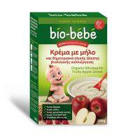 Bio-Bebe Κρέμα Με Μήλο & Δημητριακά Ολικής Άλεσης 200gr