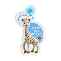 Sophie La Girafe Baby On Board Σήμα Αυτοκινήτου Με Φωτάκια Σε Γαλάζιο & Κίτρινο 0M+