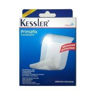 Kessler Clinica Primafix Αποστειρωμένες Αυτοκόλλητες Γάζες 5*7,2cm