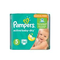 Pampers Active Baby-Dry Πάνες 5(11-18kg) 36τμχ