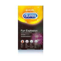Durex Fun Explosion Προφυλακτικά 4 ειδών 18τμχ