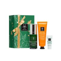 Apivita Λάμψη Προσώπου Gift Set Με Bee Radiant Αντιγηραντικός Ορός Λάμψης 30ml & Δώρο Μάσκα Προσώπου Με Πορτοκάλι 50ml