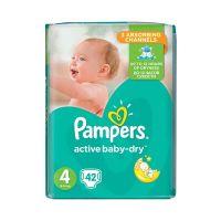 Pampers Active Baby-Dry Πάνες 4(8-14kg) 42τμχ