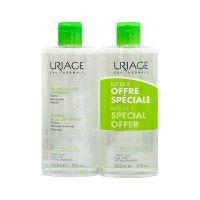 Uriage Set Eau Micellaire Thermale Ιαματικό Νερό Καθαρισμού & Ντεμακιγιάζ Προσώπου/Ματιών Για Μικτό/Λιπαρό Δέρμα 500ml*2