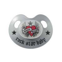 Rock Star Baby Πιπίλα Σιλικόνης Heart & Wings 3-24m