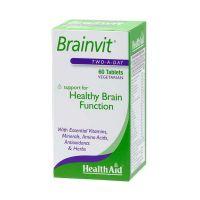 Health Aid Brainvit Για Μνήμη & Εγκεφαλικές Λειτουργίες Vegeterian 60 Ταμπλέτες
