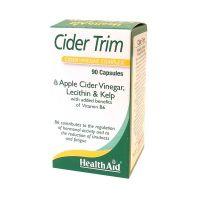 Health Aid Cider Trim Cider Vinegar Complex Για Αποτελεσματικό Αδυνάτισμα 90 Κάψουλες