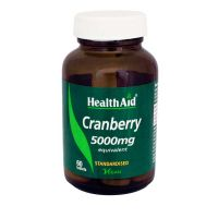 Health Aid Cranberry 5000mg Vegan 60 Ταμπλέτες