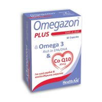 Health Aid Omegazon Plus Omega 3 & Co Q10 30mg Για Υγιή Καρδιά & Απελευθέρωση Ενέργειας 60 Κάψουλες