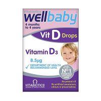 Vitabiotics Wellbaby Vit D Συμπλήρωμα Διατροφής Για Μωρά Σε Σταγόνες 30ml