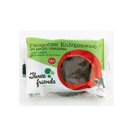 Three Friends Βιολογικές Γκοφρέτες Καλαμποκιού Με Μαύρη Σοκολάτα 2τμχ 32g