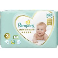 Pampers Premium Care Πάνες No3 6-10kg 40τμχ