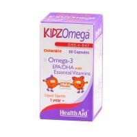 Health Aid KidzOmega Ω3 Λιπαρά Οξέα 60 Μασώμενες Ταμπλέτες