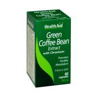 Health Aid Green Coffee Bean Extract With Chromium Αυξάνει Το Μεταβολισμό & Τα Επίπεδα Ενέργειας Vegan 60 Κάψουλες