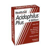 Health Aid Acidophilus Plus 4 Billion Μείγμα Προβιοτικών Vegeterian 30 Κάψουλες