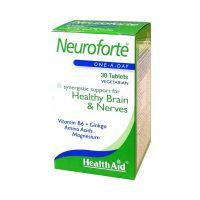 Health Aid Neuroforte Δυνατό Νευρικό Σύστημα Vegeterian 30 Ταμπλέτες