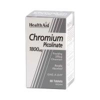 Health Aid Chromium Picolinate 1800mg Για Ενίσχυση Αδυνατίσματος Vegan 60 Ταμπλέτες