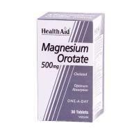 Health Aid Magnesium Orotate 500mg Vegan 30 Ταμπλέτες