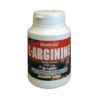 Health Aid L-Arginine 500mg Για Παραγωγή Ενέργειας Στους Μύες 60 Ταμπλέτες
