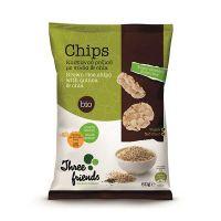 Three Friends Βιολογικά Chips Καστανού Ρυζιού Με Κεχρί & Ηλιόσπορους Χωρίς Γλουτένη 60g