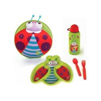 Oops Starry Meal Set Φαγητού & Σακίδιο Πλάτης Ladybug Με Φωτάκια