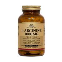 Solgar L-Arginine 1000mg Free Form Αμινοξέα 90 Tabs