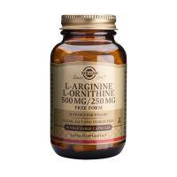 Solgar L-Arginine L-Ornithine 500mg/250mg Free Form Αμινοξέα 50 Veg. Caps