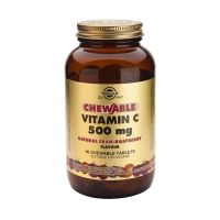 Solgar Chewable Vitamin C 500mg Cran-Rasberry Flavour Βιταμίνες 90 Tabs