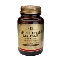 Solgar Reishi Shiitake Maitake Mushroom Extract Σούπερ Τροφές 50 Veg. Caps