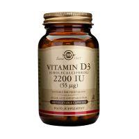Solgar Vitamin D3 2200IU 55mcg Βιταμίνες 100 Veg. Caps