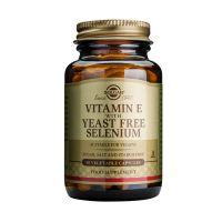 Solgar Vitamin E With Yeast Free Selenium Βιταμίνες 50 Veg. Caps