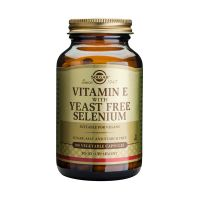 Solgar Vitamin E With Yeast Free Selenium Βιταμίνες 100 Veg. Caps