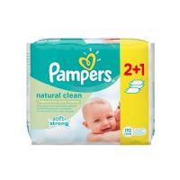 Pampers Natural Clean Set Μωρομάντηλα Χωρίς Άρωμα 64τμχ (2+1)