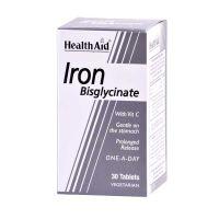 Health Aid Iron Bisglycinate Σίδηρος Με Vitamin C 30 Ταμπλέτες