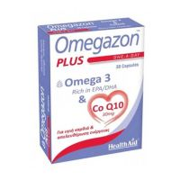 Health Aid Omegazon Plus Omega 3 & Co Q10 30mg Για Υγιή Καρδιά & Απελευθέρωση Ενέργειας 30 Κάψουλες