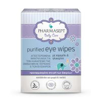 Pharmasept Baby Care Αποστειρωμένα Μαντηλάκια Για Τον Καθαρισμό Της Οφθαλμικής Περιοχής & Των Βλεφάρων 10τμχ