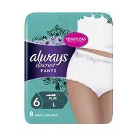 Always Discreet Pants Plus No6 L Εσώρουχα Για Ακράτεια Μίας Χρήσης 8τμχ