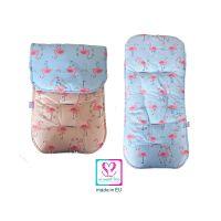 So Sweet Line Κάλυμμα Για Καρότσι 2 Όψεων So Sweet Pink/Mint Flamingo